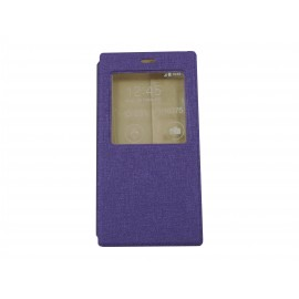 Pochette Inote pour Xiomi MI3 violette + film protection écran