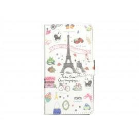 Pochette simili-cuir pour Nokia Lumia 530 Tour Eiffel Paris+ film protection écran