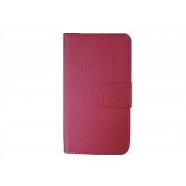 Pochette simili-cuir pour Nokia Lumia 530 rose+ film protection écran