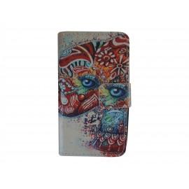 Pochette simili-cuir pour Nokia Lumia 530 éléphant multicolore + film protection écran