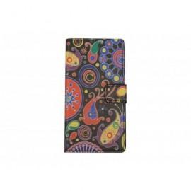 Pochette pour Samsung A7 cachemire+ film protection écran