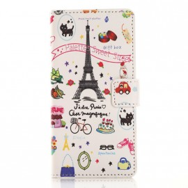 Pochette pour Wiko Rainbow up Paris Tour Eiffel